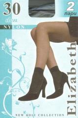 Socks kapron 30 den Elizabeth lycra, with lycra