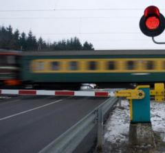 The barrier is automatic crossing