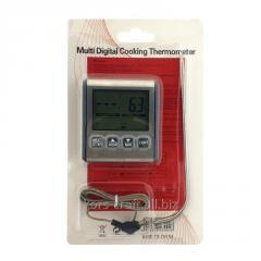 Цифровой термометр с выносным датчиком серый Multi