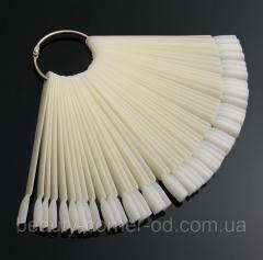 Палитра-веер для нанесения лаков,  50 типс...