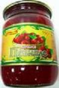 Canned food pyureobrazny fruit.