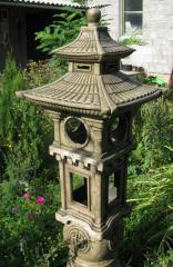 Garden lamp from chamotte