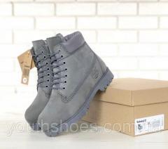Ботинки мужские зимние Timberland шерстяной мех