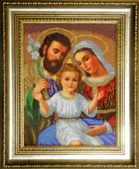 Set for embroidery by beads the Holy family