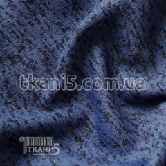 Ткань Трикотаж вязаный на флисе (васильковый)