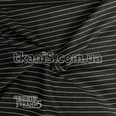 Ткань Трикотаж полоска (черный)