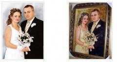 Wedding portrait, Portrait on a wedding