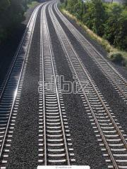 Rails railway narrow track of the P18 and P24