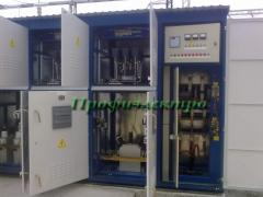 Condenser installations high-voltage