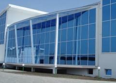 Products from glass - doors, partitions, designs,