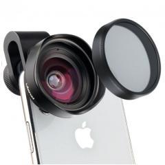 Широкоугольный объектив 16 мм с CPL-фильтром для
