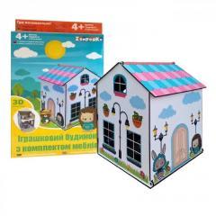 Деревянный домик конструктор для куколок 32 детали
