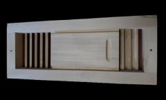 Вентиляционный шибер для бани сауны (липа).