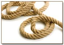 The rope is polyamide wattled