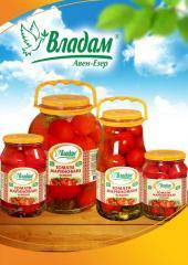 Marinated tomatoes TM Vladam