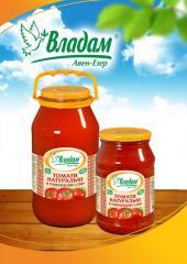 Томаты натуральные в томатном соке ТМ Владам