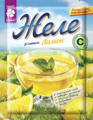 Jelly with lemon flavor, 90g