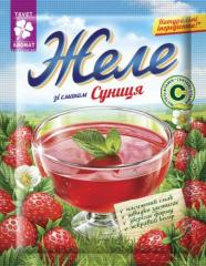 Jelly with strawberry flavor, 90 g