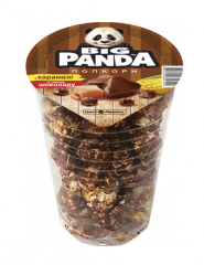 Popcorn in caramel with chocolate flavor (glass),
