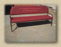 Benches on a metal framework