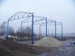Construction of the hangar of 360 sq.m.