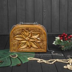 Деревянная резная женская сумка ручной...