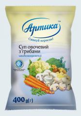 Суп овощной с грибами быстрозамороженный
