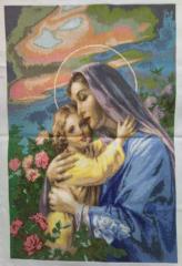 Вышитые картины, ікона Марія і Ісус