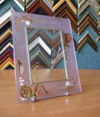 Фоторамки на стекле с витражным рисунком