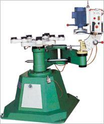 The machine for figured processing of glass, the