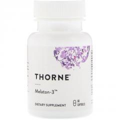 Мелатонин-3, Thorne Research, Melaton-3, 60 капсул