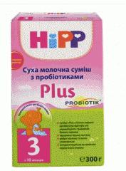 Сухая молочная смесь HiPP 3 Plus, сухое молоко,