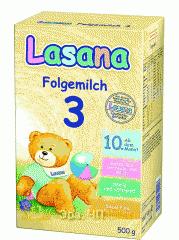 Сухая детская молочная смесь Лазана 3 (Lasana