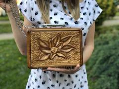 Сумка ручной работы из дерева для женщин, ...