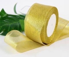 Лента парча 5 см бунт - 23 метра, цвет золото (сп7нг-2946)
