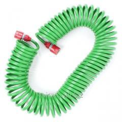 Шланг для полива спиральный 15 м с конекторами