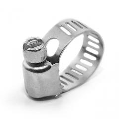 Хомут стальной оцинкованный 8 мм D 6-16 мм