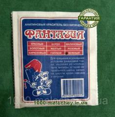 Краситель для ткани фантазия зеленый (10 гр) на 1
