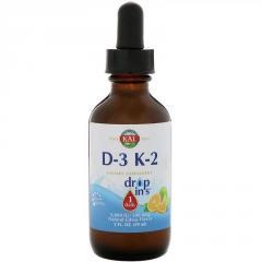 Витамин D3+K2, Vitamin D-3 K-2 Drop, KAL,