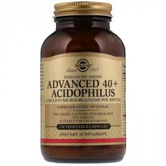 Пробиотики, Advanced 40+ Acidophilus, Solgar, 120