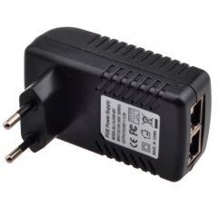 PoE адаптер инжектор питания камер RJ45 48В...