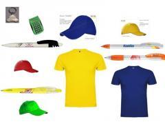 Футболки, кепки и ручки  под нанесение логотипа,