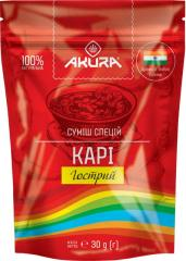 "Приправа карри (острая) ТМ ""AKURA"",  30г"