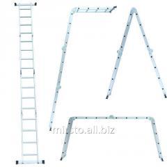Лестница многоцелевая 4×4 (алюминиевая) FLORA