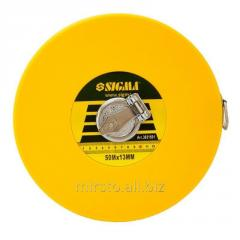 Рулетка стекловолокно 50м×13мм SIGMA (3831501)