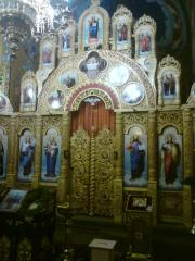 Carved iconostasis.