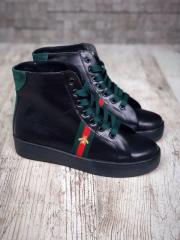 36 размер! Ботинки женские деми в стиле Gu//i из