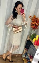 Женское красивое платье микромасло + фатин, цвет