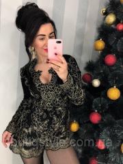 Женский красивый черный комбинезон шорты гипюр с