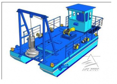 Dredges for a sand recovery